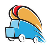 Hot Dog Truck — Stock Vector