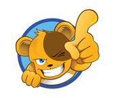 Bear Mascot — Stock Vector