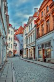 Evening Tallinn Streets — Stock Photo