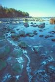 Rocky small lake — 图库照片