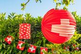 Swiss outdoor decoration — Stockfoto