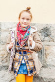 Fashion portrait of a cute little girl — Stock Photo