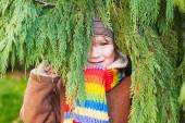 Outdoor portrait of a cute little boy — Stock Photo