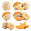 6 cantaloupe melon images — Stock Photo #53093835