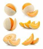 6 cantaloupe images — Stock Photo