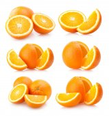 6 orange images — Foto Stock