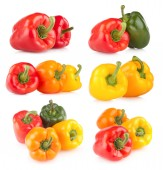 6 bell pepper images — Stock fotografie