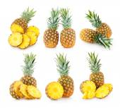 6 pineapple images — Stockfoto