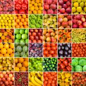 Set of vegetable backgrounds — Stock Photo