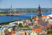 Aerial view of Riga — Stock Photo