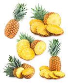 Set of 6 pineapple images — Stock Photo