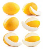 Collection of honeydew melon — Foto Stock