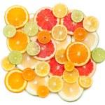 Background of citrus slices — Stock Photo #58438151