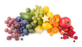 Ripe fesh fruits as a rainbow — Stock Photo