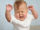 Baby crying emotional — Stock Photo