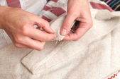 Sewing handmade — Stock Photo