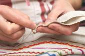 Sewing close-up — Stock Photo
