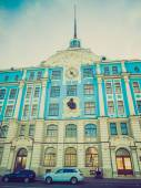Retro look Winter Palace in St Petersburg Russia — Stock Photo
