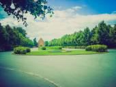 Retro look Aarhus park — Zdjęcie stockowe