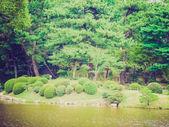 Retro look Hiroshima Shukkeien gardens — Foto de Stock