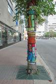 Street-Art in Edmonton, Kanada — Stockfoto