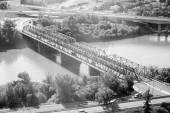 North Saskatchewan River in Edmonton — Stock Photo