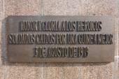 War Memorial in Bata — Zdjęcie stockowe