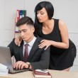 Businesswoman flirting with colleague — Stock Photo #51858895