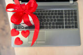Romantic presents on the table — Stock Photo