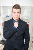 Handsome businessman with confident face — Stock Photo