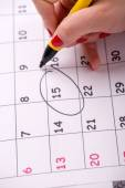 Close-up photo of calendar with a datum — Stock Photo