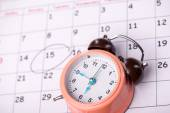 Close-up photo of calendar with a datum circled — Stock Photo