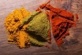 Composition of  different colorful  spices — Foto de Stock