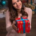 Beautiful girl pending Christmas — Stock Photo #57567679