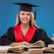 Student girl with books — Stock Photo #60584257