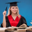 Student girl with  books — Stock Photo #60584265
