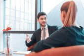 Beautiful young businesspeople at the  meeting — Stock Photo