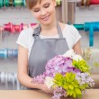 Florist work with flowers — Stockfoto #68190819