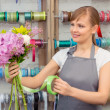 Florist work with flowers — Stock Photo #68190917