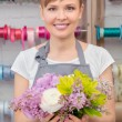 Florist work with flowers — Stock Photo #68190949