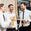 Coworkers have fun in the bar — Stock Photo #68774147