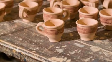 Interesting work of potter — Vídeo de Stock