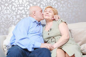 Husband kisses his wife — Stock Photo