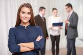 Businesswoman at the meeting — Stock Photo