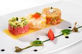 Tartar with tuna fish — Stock Photo