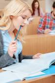 Female student learning — Stock Photo