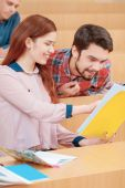 Students interact in class — Stock Photo