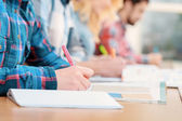 Students at classes — Stock Photo