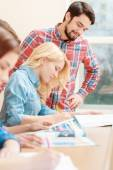 Students work together — Stock Photo