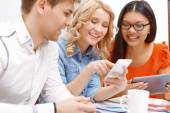 Young team working on new apps — Stock Photo